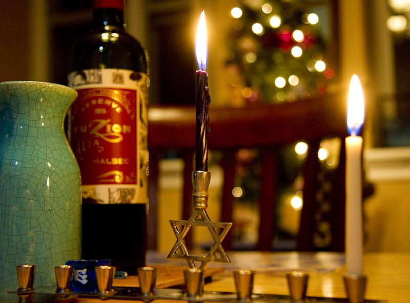 Hanukkah first night 2016