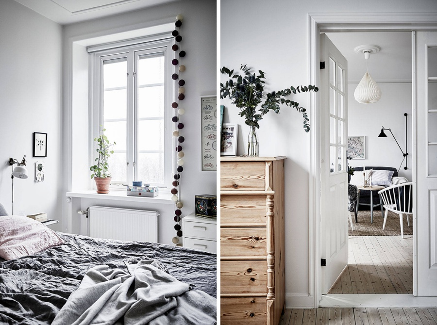 Scandinavian Home with Grey Accents