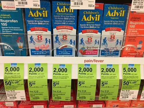 Children's Advil at Walgreens