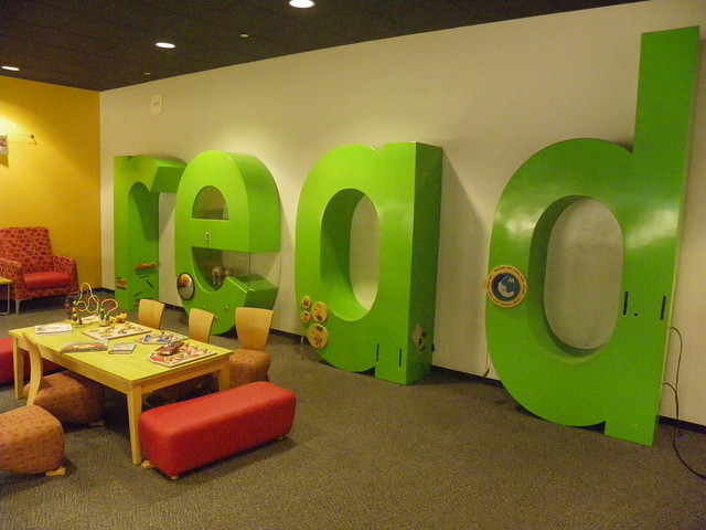 read (sign) - Cesar Chavez Library