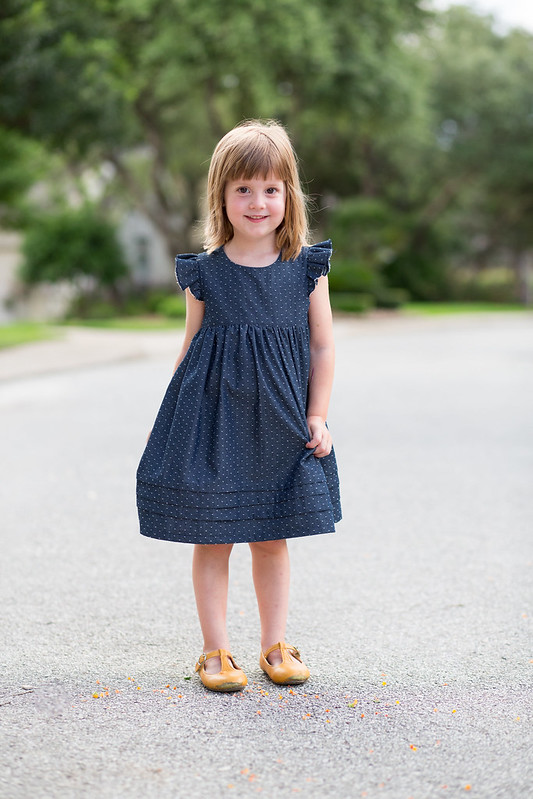 geranium dress with growth pleats