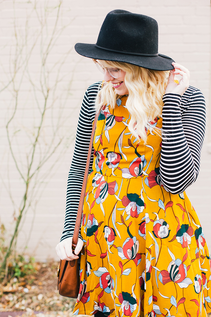 austin style blog tissue turtleneck layered modcloth dress1