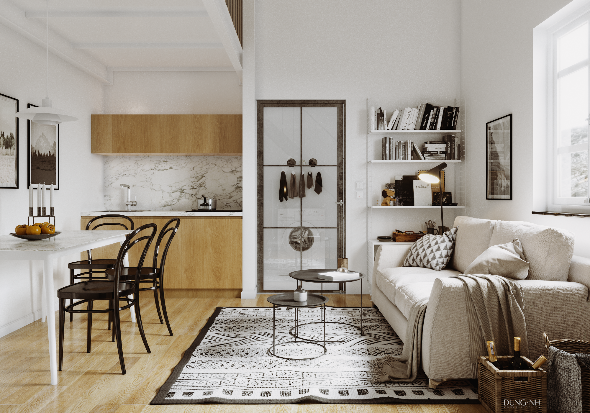 Small apartment scandinavian style for Small scandinavian apartment
