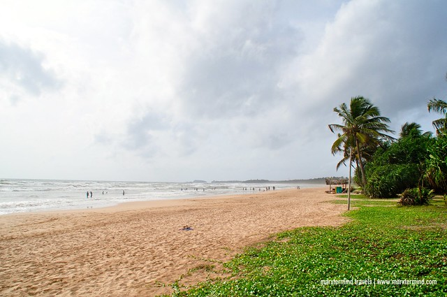 The Long Shore of Bentota Beach Sri Lanka