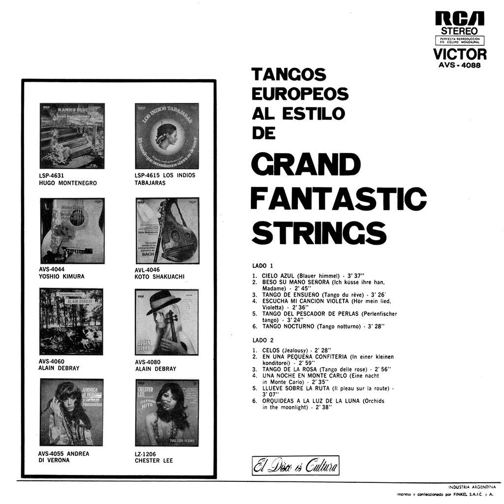 Grand Fantastic Strings - Tangos Europeos al estilo de