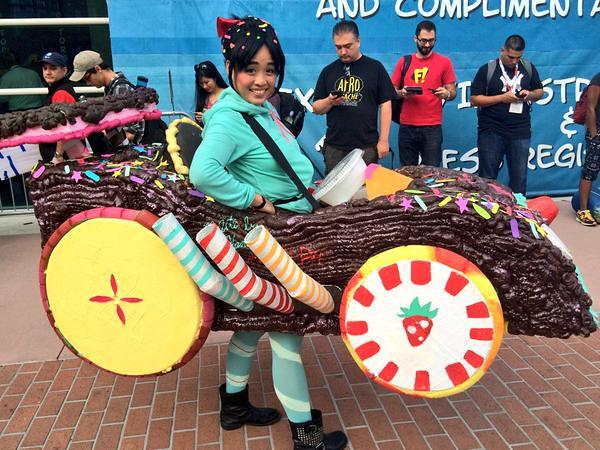 San Diego Comic-Con 2015 Cosplay - Wreck-It-Ralph Vanellope von Schweetz