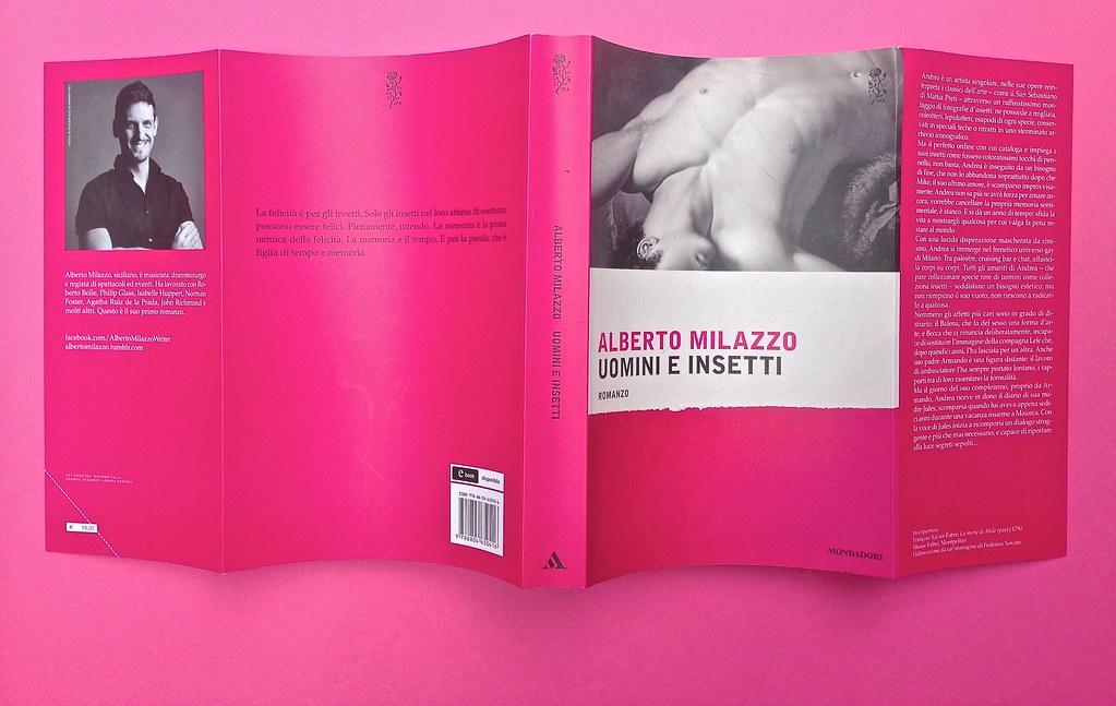 Alberto Milazzo, Uomini e insetti. Mondadori 2015. Art director Giacomo Callo; graphic designer Andrea Geremia. Totale copertina (part.), 1