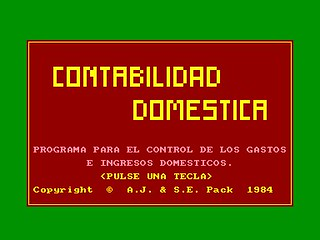 Amstrad CPC: Contabilidad Doméstica | by Deep Fried Brains