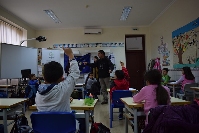 Primeiras atividades com alunos das escolas locais