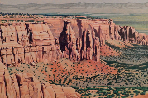 Colorado National Monument. Artist Dan Miller