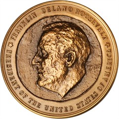 1941 Roosevelt Inaugural Medal type one obverse
