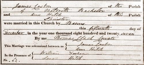 1827 James C Ann H M Steeple Morden BT
