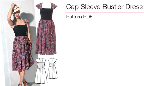 Cap Sleeve Bustier Dress