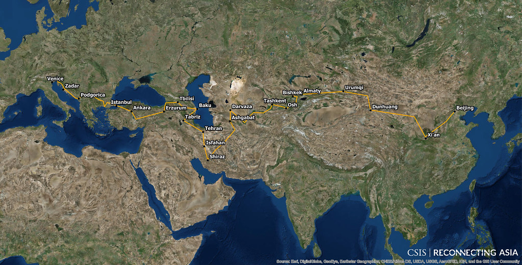 Silk Road Project Route