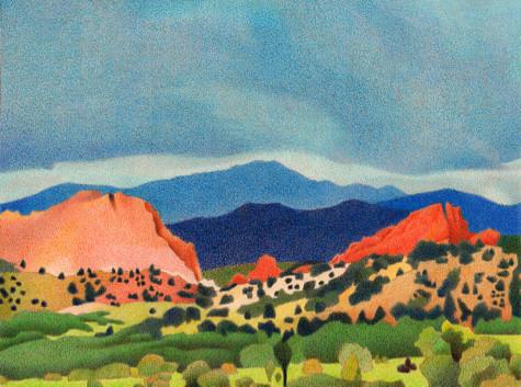 Pikes Peak. Artist Dan Miller
