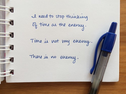 handwritten time is not my enemy