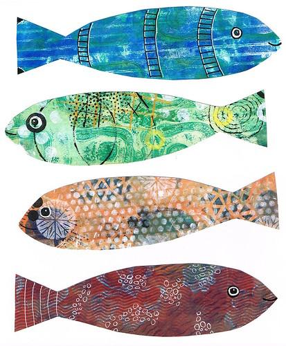 Fish bookmarks