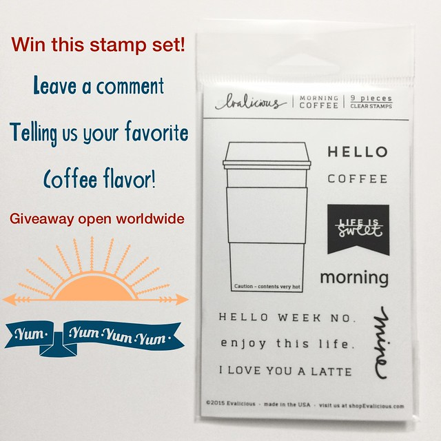 Coffee Stamp Set Giveaway on Just Jingle @Jennifer Ingle #justjingle