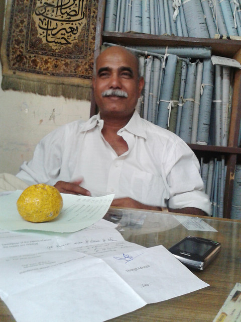 Adv. Tahiwar Khan Pathan in his office
