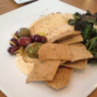 Smoky hummus plate at Plant in Asheville, NC.