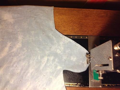 Zomerjurk met zakken en soort van empire waist line