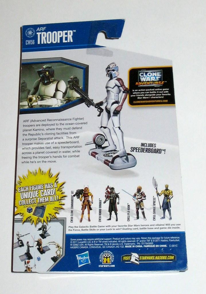 Star Wars CW56 ARF TROOPER CLONE WARS NEW