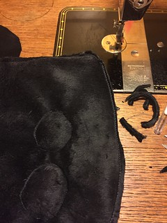 fake leather bunny WIP bag fun fur handmade Sewing