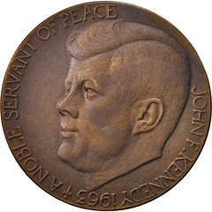 1963 Kennedy Noble Servant medal obverse