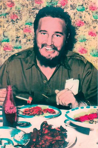 Retouchiert_Cuba_N°163_recto_Fidel-Castro-hand-coloured_155x99cm