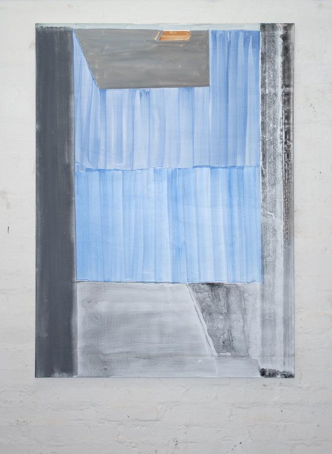 Tobias Buckel_Liberace_2015_acrylics-glue-canvas_150x110cm