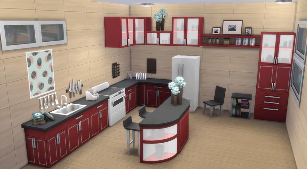 coole kuechen 4 simsvip flickr. Black Bedroom Furniture Sets. Home Design Ideas