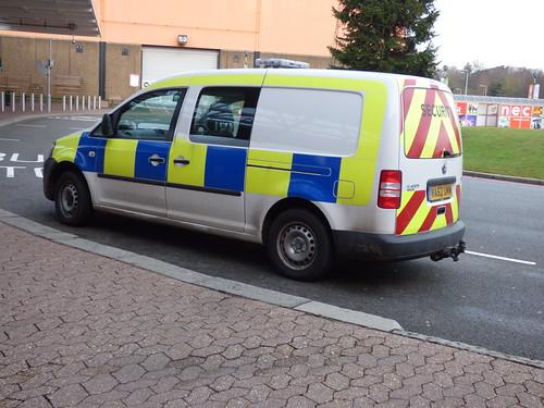 the nec birmingham security van at the nec birmingham. Black Bedroom Furniture Sets. Home Design Ideas