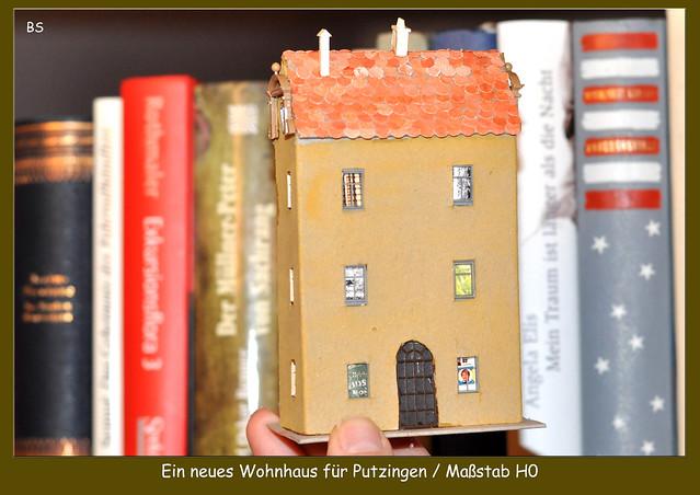DIY Haus für die Eisenbahnanlage Maßstab H0 basteln ... Putzingen 2017 ... Fotos: Brigitte Stolle, Mannheim