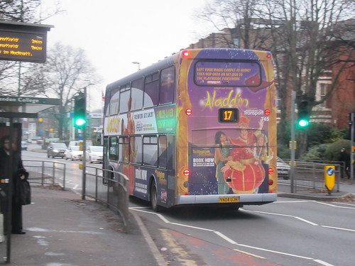 Nottingham City Transport Aladdin Rear 745 Left Your