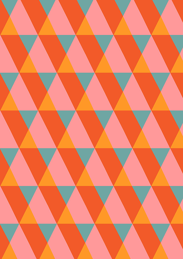 kathleen - colourful geometric pattern by laura redburn