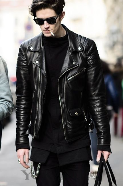 Junkai Wang 17 year old billionaire but wearing a leather jacket, he than I