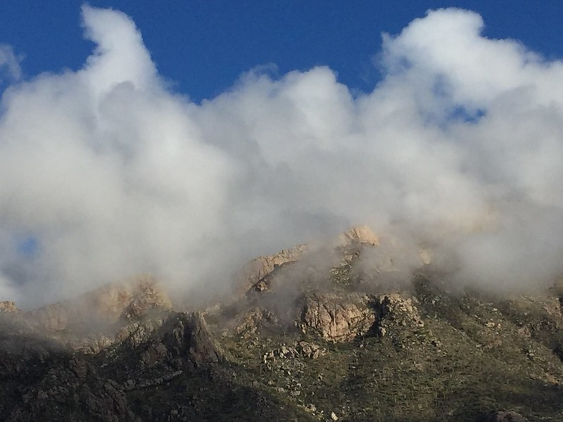 Clouds on the Catalina Mountains
