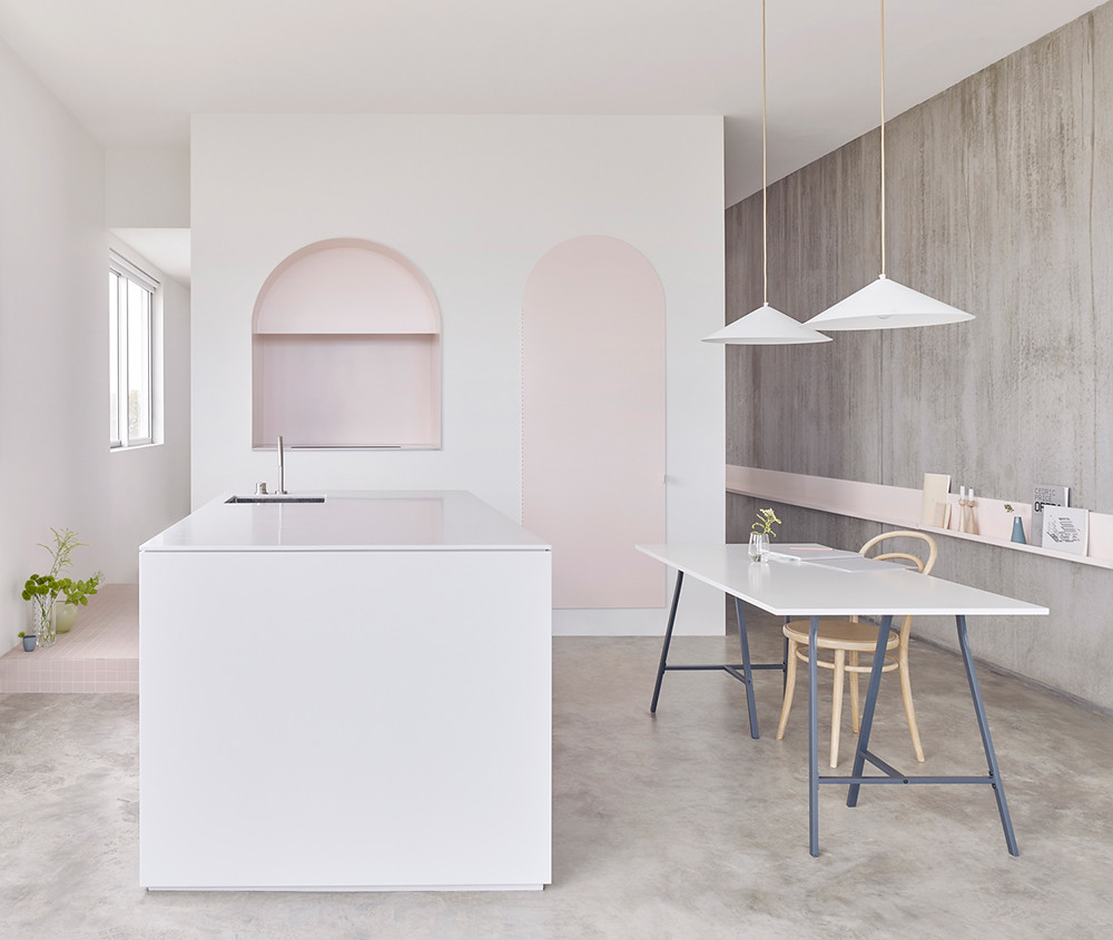 Melbourne pink apartment design by BoardGrove Architects Sundeno_09