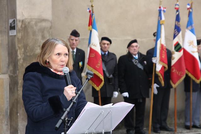 Cérémonie de commémoration des victimes de l'Holocauste au mémorial national de la prison de Montluc