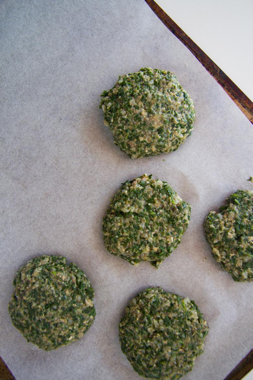 kale + mushroom burgers
