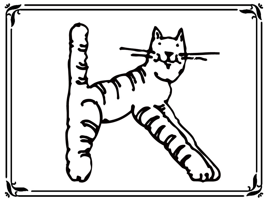 letter k cats animal style alphabet coloring pages www.rea… | Flickr