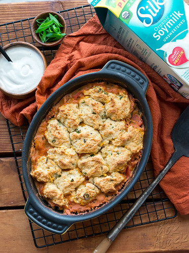 Savory Tomato Cobbler with Cheddar Chive Biscuits | by Yack_Attack