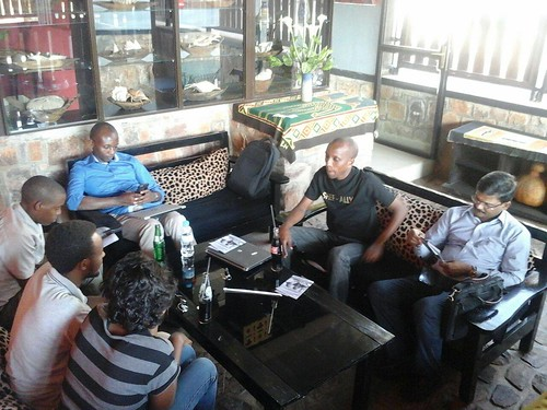 image of people at a NetSquared Kigali meetup