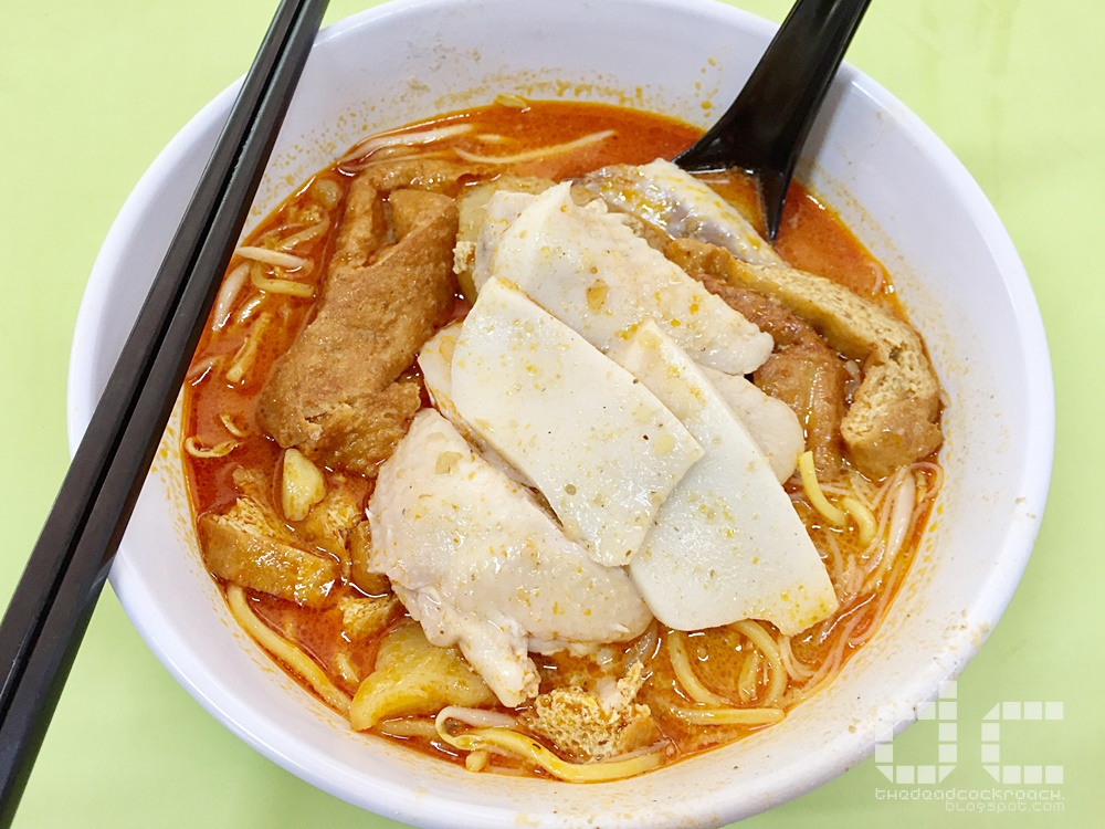 ah heng curry chicken bee hoon mee, curry chicken mee, hong lim, singapore, 亚王咖喱鸡米粉面, 咖喱鸡, 米粉面, 芳林熟食中心