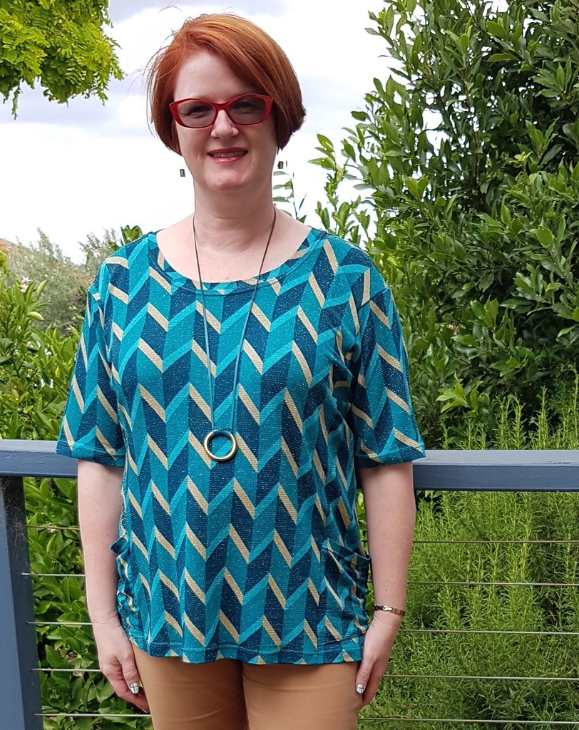 Style Arc Ada in knit remnant from The Cloth Shop