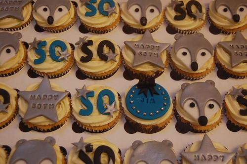 Silver Fox 50th Cupcakes – Beautiful Birthday Cakes