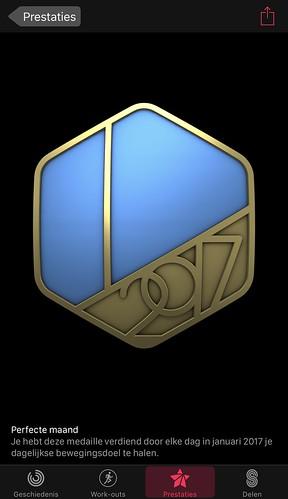 Perfecte maand medaille iPhone voorkant