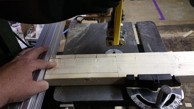 Cutting the stake cheeks