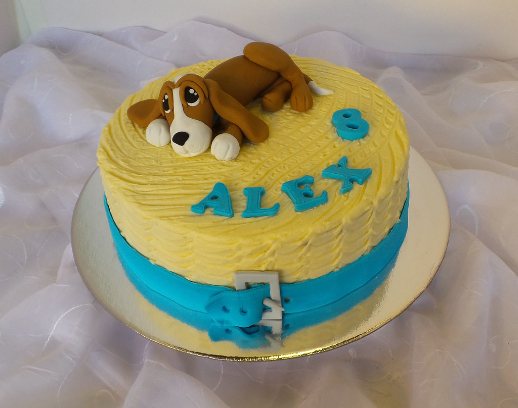 Dog Themed Carrot Birthday Cake Design Was Brought In By C Flickr