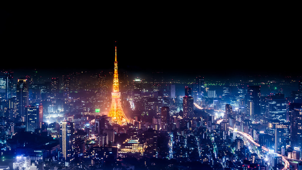 Tokyo Skyline At Night 4K Wallpaper / Desktop Background